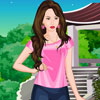 Cute Girl with Eagle Dress-Up Game Online
